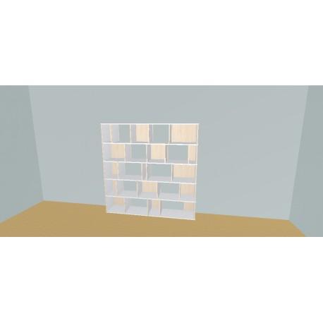 Boekenkast op maat (H181cm - B202 cm)