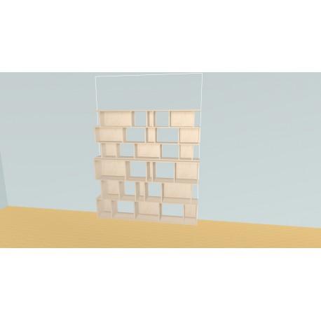 Boekenkast op maat (H191cm - B180 cm)