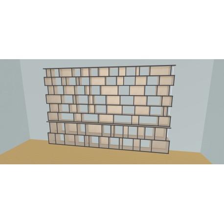 Boekenkast op maat (H230cm - B400 cm)