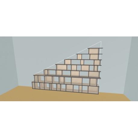 Meuble Bibliothèque sur-mesure (H200cm - L360 cm)
