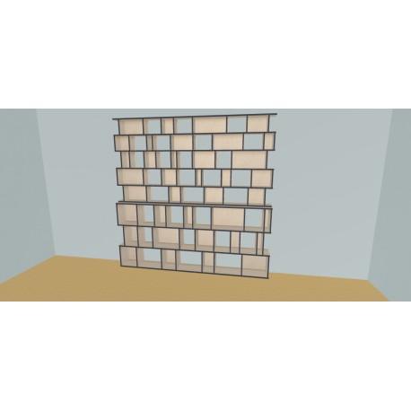 Boekenkast op maat (H239cm - B270 cm)