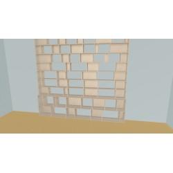 Boekenkast op maat (H290cm - B318 cm)