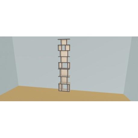 Custom bookcase (H239cm - W60 cm)