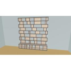 Boekenkast op maat (H239cm - B250 cm)