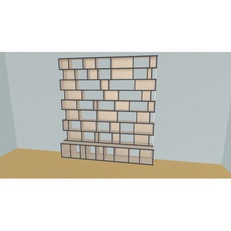 Custom bookcase (H239cm - W250 cm)
