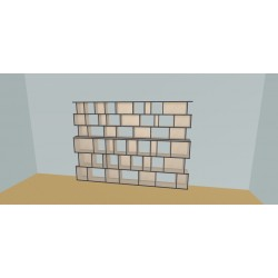 Boekenkast op maat (H191cm - B300 cm)