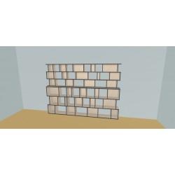 Custom bookcase (H191cm - W300 cm)