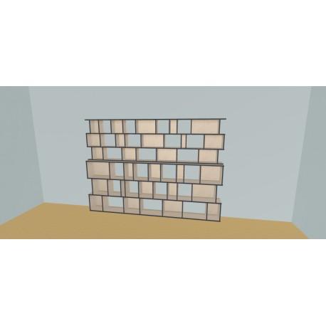Meuble Bibliothèque sur-mesure (H191cm - L300 cm)