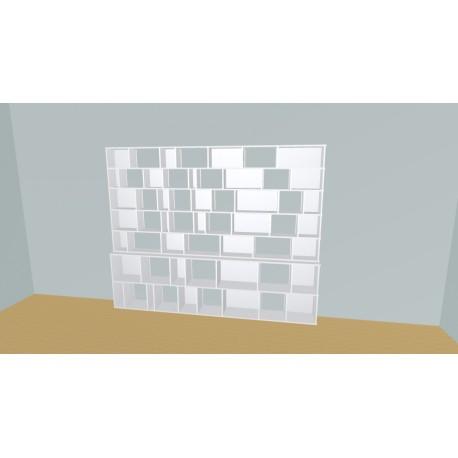 Custom bookcase (H203cm - W285 cm)
