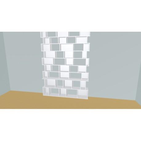 Boekenkast op maat (H257cm - B205 cm)