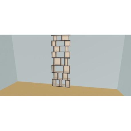 Meuble Bibliothèque sur-mesure (H248cm - L100 cm)