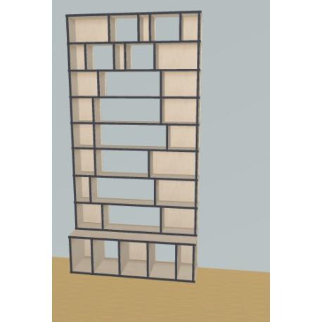 Bookshelf (H239cm - W120 cm)