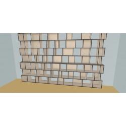 Meuble Bibliothèque sur-mesure (H254cm - L460 cm)