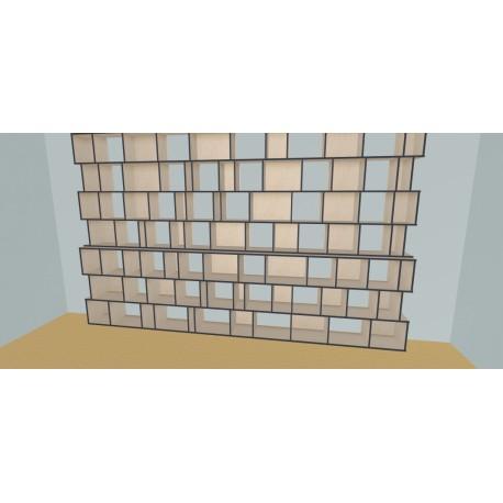 Custom bookcase (H254cm - W460 cm)
