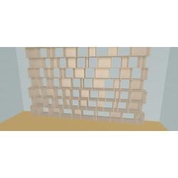 Boekenkast op maat (H254cm - B460 cm)