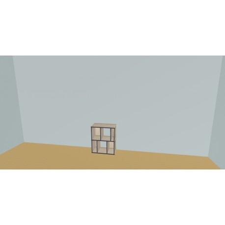 Custom bookcase (H73cm - W70 cm)