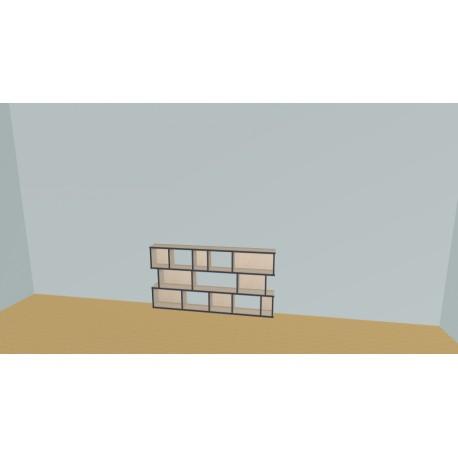 Boekenkast op maat (H82cm - B174 cm)