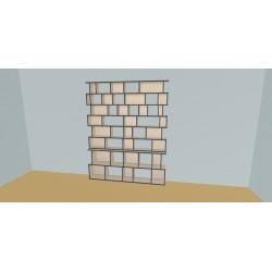 Custom bookcase (H224cm - W200 cm)