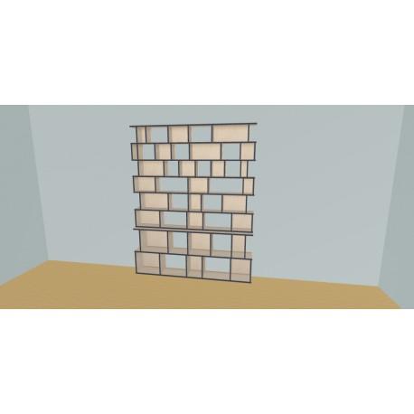 Boekenkast op maat (H224cm - B200 cm)