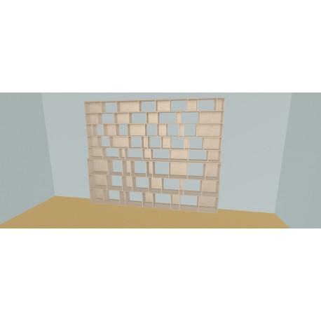Boekenkast op maat (H236cm - B330 cm)