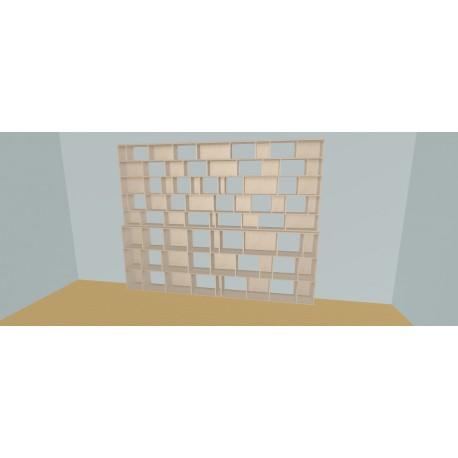 Boekenkast op maat (H236cm - B340 cm)