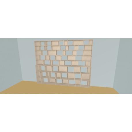 Boekenkast op maat (H239cm - B335 cm)