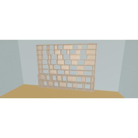 Boekenkast op maat (H230cm - B335 cm)