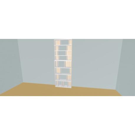 Boekenkast op maat (H248cm - B100 cm)