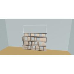 Meuble Bibliothèque sur-mesure (H138cm - L220 cm)