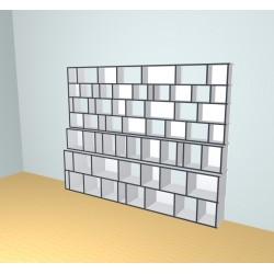 Boekenkast op maat (H215cm - B280 cm)