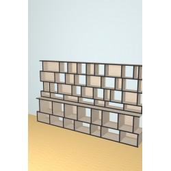 Boekenkast op maat (H161cm - B276 cm)