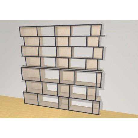 Bookshelf (H209cm - W212 cm)