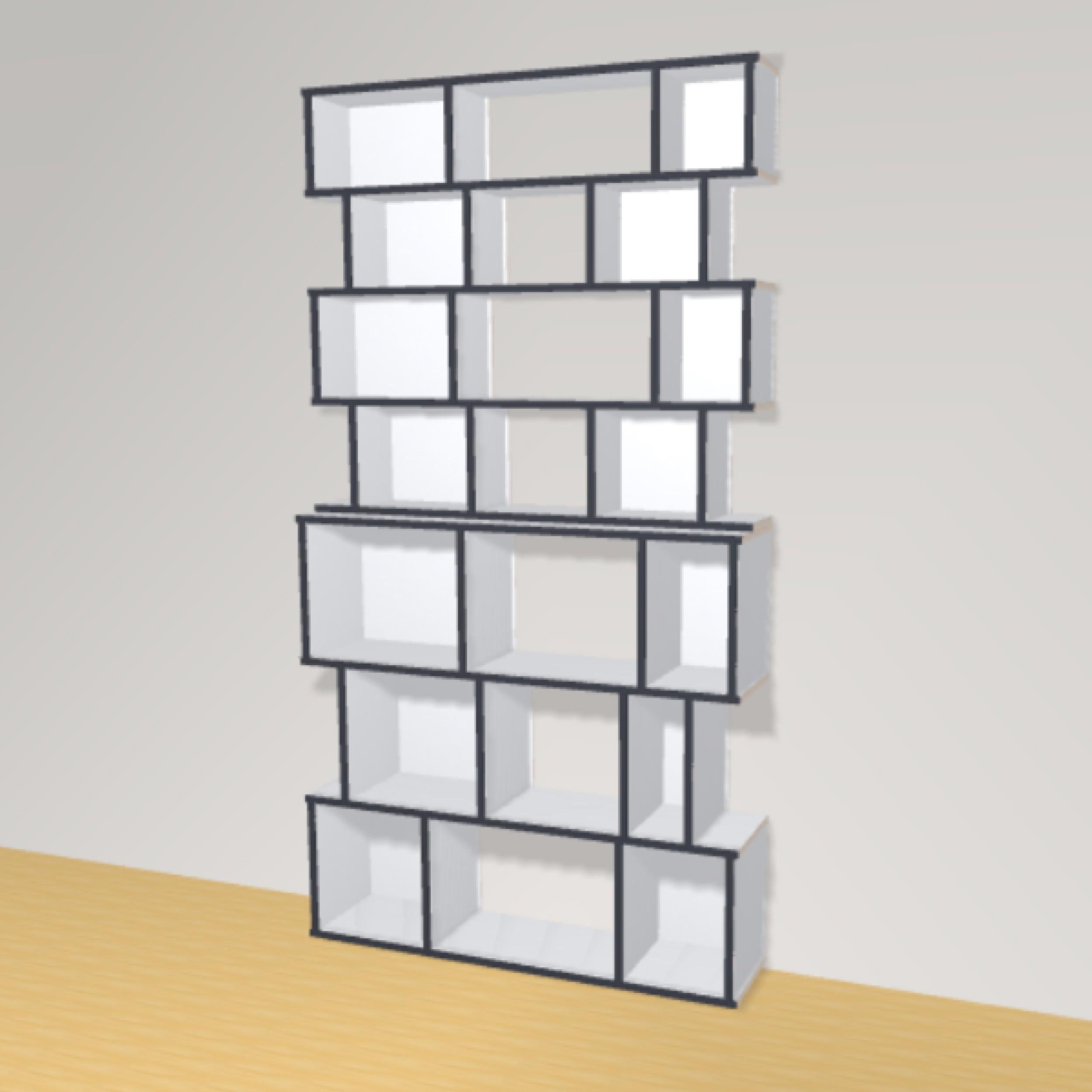 Bibliotheek h209cm b114 cm the perfect bookshelf - Op maat gemaakte bibliotheek ...