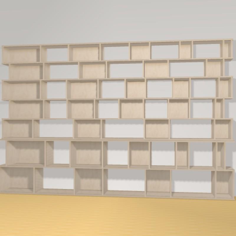 Bibliotheek h200cm b312 cm the perfect bookshelf - Op maat gemaakte bibliotheek ...