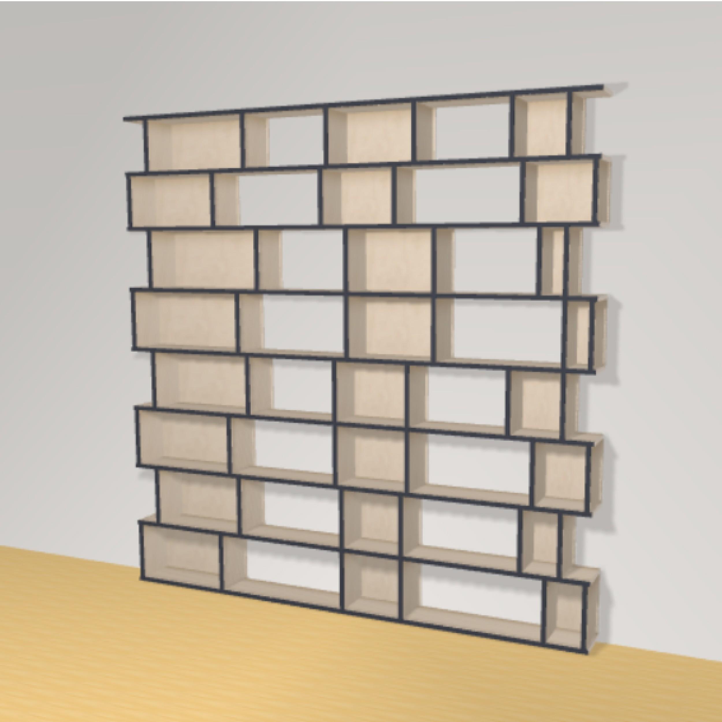Bibliotheek h208cm b210 cm the perfect bookshelf - Op maat gemaakte bibliotheek ...