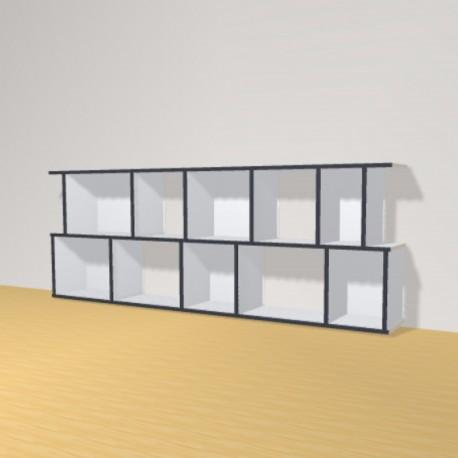 Meuble Bibliothèque sur-mesure (H73cm - L200 cm)