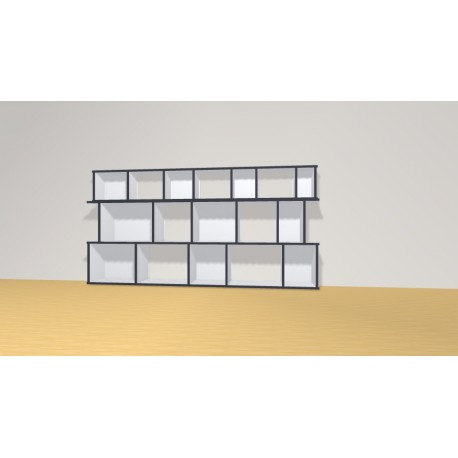 Bookshelf (H102cm - W200 cm)