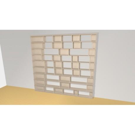 Bibliothèque (H231cm - L247 cm)