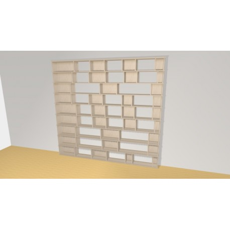 Bookshelf (H231cm - W247 cm)