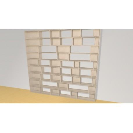 Bookshelf (H228cm - W247 cm)
