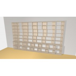 Bibliotheek (H236cm - B408 cm)