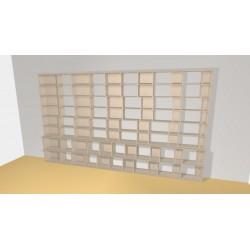 Bibliothèque (H236cm - L408 cm)