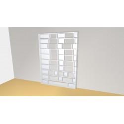 Bibliothèque (H261cm - L190 cm)