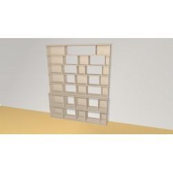 Bookshelf (H200cm - W163 cm)