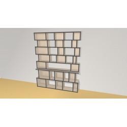 Bibliothèque (H203cm - L161 cm)