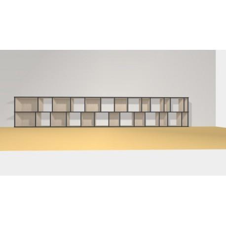 Bibliothèque (H73cm - L425 cm)