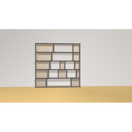 Bibliothèque (H136cm - L140 cm)