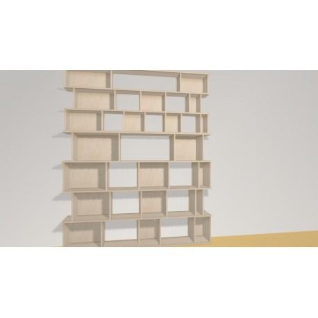 Bookshelf (H227cm - W186 cm)