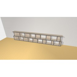 Bookshelf (H73cm - W382 cm)