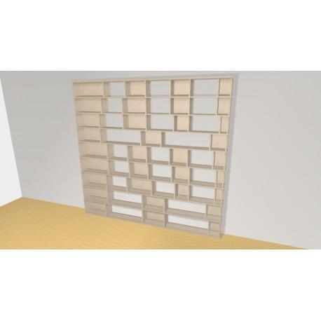 Bibliothèque (H231cm - L243 cm)